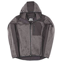 "Site Rowan Softshell Knitted Hoodie Dark Grey / Black X Large 42-44"" Chest"