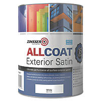 Zinsser All Coat Exterior Paint White 1Ltr