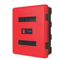 Firechief 106-1157 Double Extinguisher Cabinet with Latch 620 x 290 x 735mm Red / Black