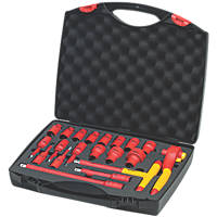 "Wiha  1/2"" Electrical Ratchet Wrench Set 20 Pieces"