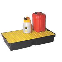 Lubetech  60Ltr Polyethylene Spill Tray & Grate 1000 x 600 x 175mm
