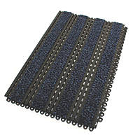 COBA Europe Premier Track Interlocking Entrance Tiles Black / Blue 440mm x 290mm 2 Pack
