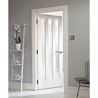 Jeld-Wen  3-Clear Light Primed White Wooden 3-Panel Internal Door 1981 x 762mm