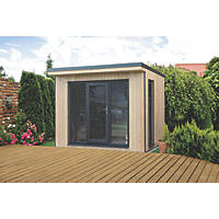 """Forest Xtend 9' 6"""" x 8' Pent Insulated Garden Office with Base & Assembly"""