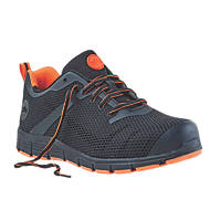 Site Flex   Safety Trainers Black / Orange Size 10