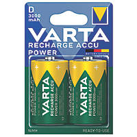 Varta Ready2Use Rechargeable Batteries D Pack of 2