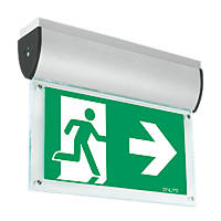 Aurora Maintained or Non-Maintained LED Emergency Ceiling-Mounted Exit Sign without Legend 7W