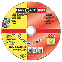 Flexovit Cutting Discs  (230mm) x 1.9 x 22.23mm 3 Pack