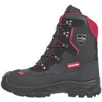 Oregon Yukon Leather Chainsaw Safety Boots Black Size 8