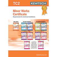 Kewtech TC2 Minor Works Certificates Pad