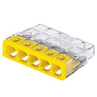 Wago 5-Way Push-Wire Connectors 24A Pack of 100