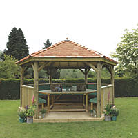 Forest HGG47MNECGFIN Timber Gazebo 4900 x 4240 x 3370mm