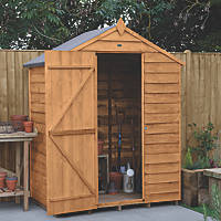 Forest  5' x 3' (Nominal) Apex Overlap Timber Shed with Base