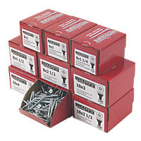 Quicksilver PZ Double-Countersunk Woodscrews Trade Pack 1400 Pcs