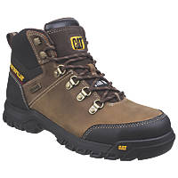 CAT Framework   Safety Boots Brown Size 8