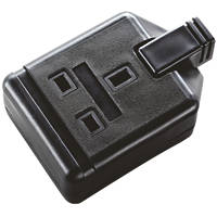 Masterplug 13A 1-Gang Rewireable Socket Black
