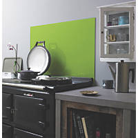Impact Glass Lime Self-Adhesive Toughened Glass Splashback 900 x 750 x 6mm
