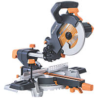 Evolution R210SMS 210mm Single-Bevel Sliding  Compound Mitre Saw 110V