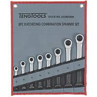 Teng Tools Combination Ratchet Spanner Set 8 Pieces