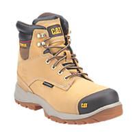 CAT Spiro   Safety Boots Honey Size 6