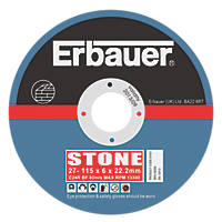 """Erbauer Grinding Discs 4½"""" (115mm) x 6 x 22.23mm 5 Pack"""