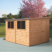 Shire Norfolk 10' x 8' (Nominal) Pent Tongue & Groove Timber Workshop