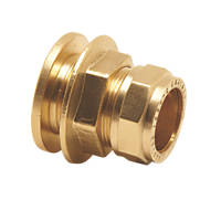 Pegler  Brass Compression Flanged Tank Connector 15mm