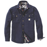 "Carhartt  Weathered Canvas Shirt Navy  44"" Chest"