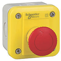 Schneider Electric XALK178F Red Push-Button Complete Control Station