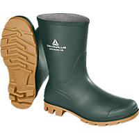 Delta Plus GROMCOBVE44 Metal Free  Non Safety Wellies Green-Beige Size 10