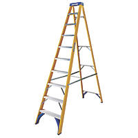 Werner 71690 Swingback Stepladder Fibreglass & Aluminium 10-Tread 2.8m