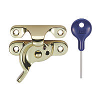 Carlisle Brass Locking Sash Fastener Fitch Pattern Polished Brass 68 x 25mm