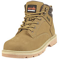 Scruffs Verona   Safety Boots Tan Size 11