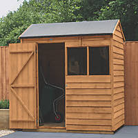 Forest  6' x 4' (Nominal) Reverse Apex Overlap Timber Shed with Assembly