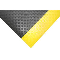 COBA Europe Orthomat Dot Anti-Fatigue Floor Mat Black / Yellow 18.3 x 1.2m