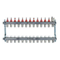 JG Speedfit 12-Port Manifold Set Chrome