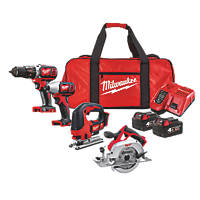 Milwaukee M18 BPP4C-402B 18V 4.0Ah Li-Ion RedLithium  Cordless 4 Piece Kit