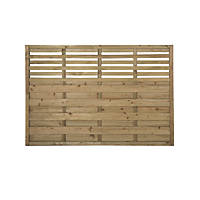 Forest Kyoto  Lattice Top Fence Panels 6 x 4' Pack of 3