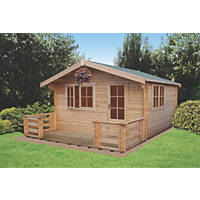 Shire Kinver Felt Roof Log Cabin 3.6 x 4.2m