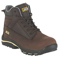 JCB Workmax+   Safety Boots Dark Brown Size 7