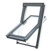 Tyrem M4A Manual Centre-Pivot White uPVC Roof Window Clear 780 x 980mm