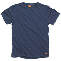 "Scruffs Worker T-Shirt Navy Large 44"" Chest"