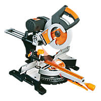 Evolution RAGE 3DB 255mm  Electric Double-Bevel Sliding Compound Mitre Saw 110V