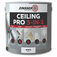Zinsser Ceiling Pro 5-in-1 Paint White 2.5Ltr