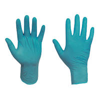 Ansell Touch N Tuff Nitrile Powder-Free Disposable Gloves Teal X Large 100 Pack