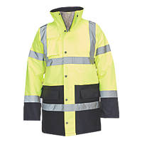 "Hi-Vis Traffic Jacket Yellow / Blue X Large 58"" Chest"