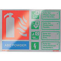 "Firechief  ""ABC Powder"" Fire Safety Sign 150 x 100mm"