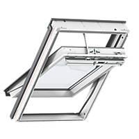 Velux MK08 Solar Centre-Pivot White Polyurethane Wrapped Integra Roof Window Clear 780 x 1400mm