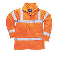 "Portwest  Hi-Vis Traffic Jacket Orange Medium 40-41"" Chest"