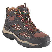 Site Ironstone Waterproof Safety Boots Brown Size 7